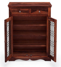 Load image into Gallery viewer, Shea_ Wooden Shoe Racks_2 Drawer & 3 Shelves Cabinet Storage