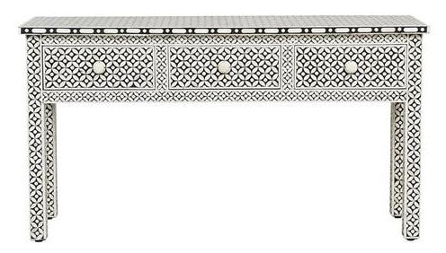 Keane Bone Inlay Console Table with 3 Drawers