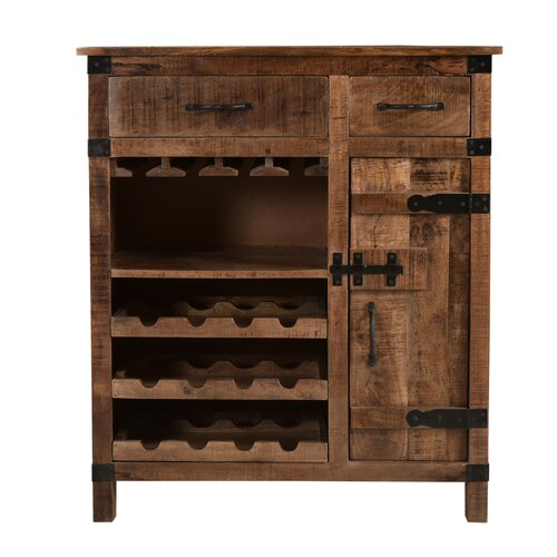 Canto_Solid Wood Bar Cabinet_Wine Cabinet