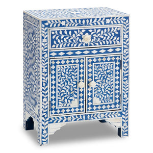 Bernadette Bone Inlay Bed Side Table