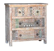 Load image into Gallery viewer, Josh_Solid Indian Wood 3 Drawers Chest of Drawer
