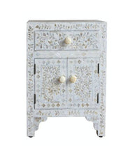 Load image into Gallery viewer, Sivi Mother of Pearl Inlay Bedside Table
