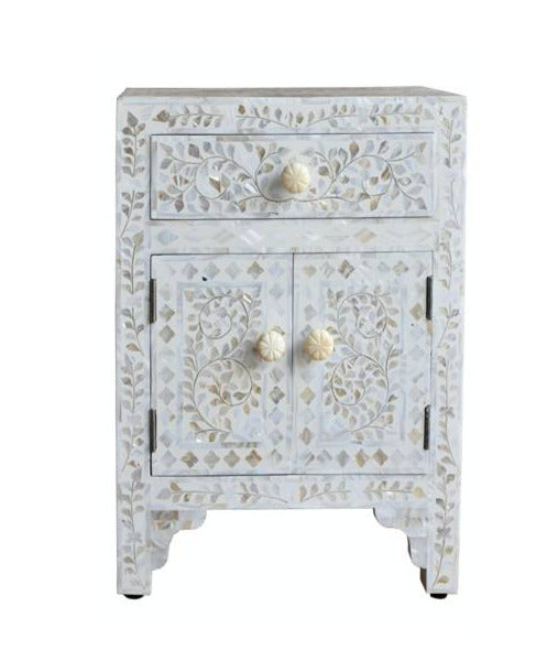 Sivi Mother of Pearl Inlay Bedside Table