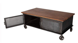 Cerina_ Industrial Look Coffee Table with storage