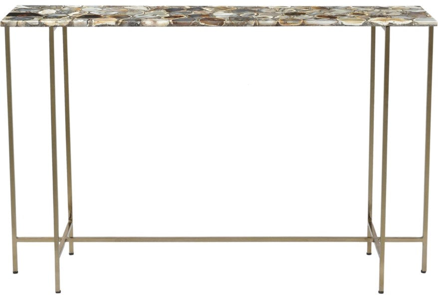 Claire_Agate Top Console Table
