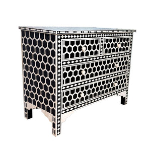 Kat Bone Inlay chest of drawer with 4 drawers