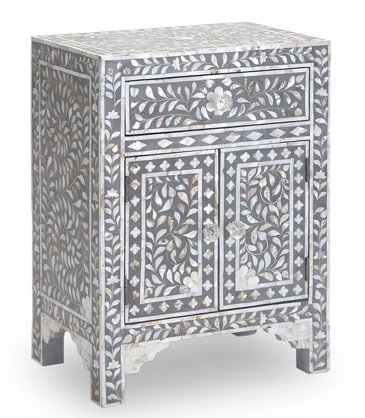 Gabrielle Mother of Pearl Bed Side Table