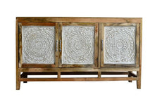 Load image into Gallery viewer, Oliver Hand Craved Wooden Sideboard_Buffet