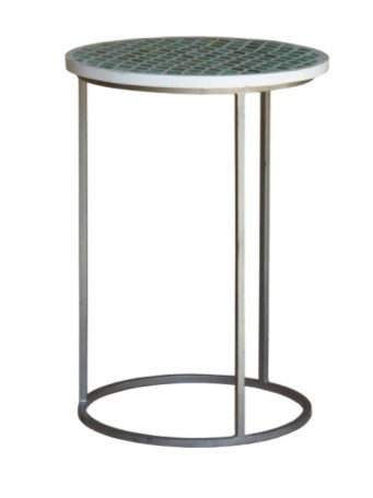 Gaite_Bone Inlay Round Stool_Side Table