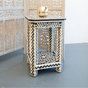 Miguel_Bone Inlay Stool_End Table_Accent Table
