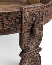 Load image into Gallery viewer, Eric_Indian Carved Chakki Coffee Table