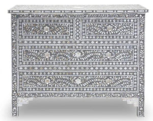 Joel_Mother of Pearl Inlay Chest of Drawer with 4 Drawers
