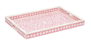 Axel Bone Inlay Tray with Floral Pattern