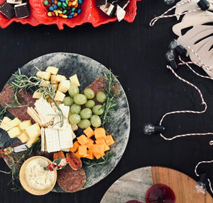 Silver Shine Grey Slate Cheese Board_Cheese Platter