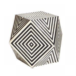 Jodhi_Bone Inlay Chevron Side Table_Stool