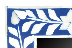 Divoff_Floral Pattern Bone Inlay Photo Frame in Blue _4 x 4