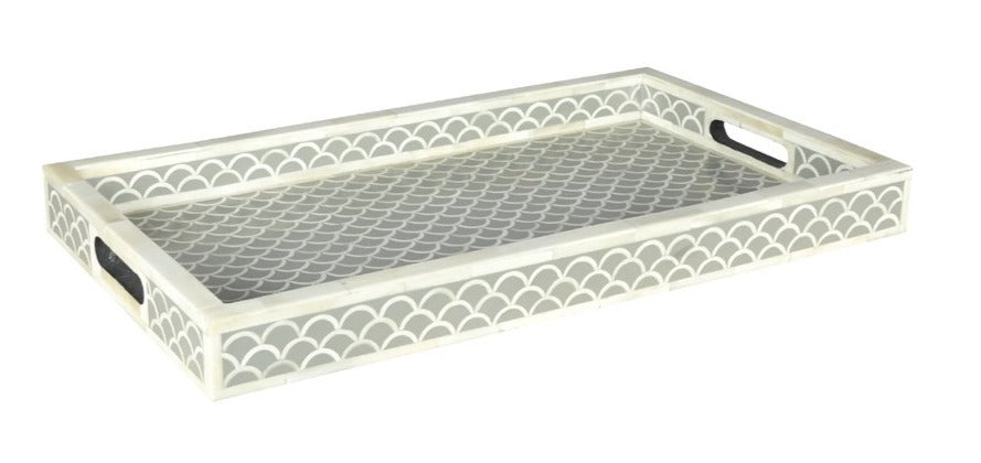 Terry_Bone Inlay Tray with Shell Pattern