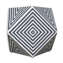 Load image into Gallery viewer, Jodhi_Bone Inlay Chevron Side Table_Stool