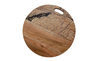 Zeus Brown Marble Cheese board