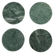 Load image into Gallery viewer, Jaha Green Marble Round Coasters set of 4