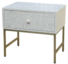 Load image into Gallery viewer, Rivia_Bone Inlay Bed Side Table