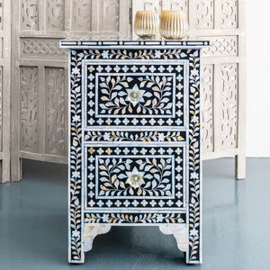 Josh_Mother of Pearl Inlay Bed Side Table