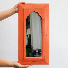 Load image into Gallery viewer, Rima Hand Painted Wooden Mirror in Multi Colors 24 x 46 cm