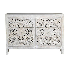 Load image into Gallery viewer, Elayn_Hand Craved Indian Wood 6 Drawers Chest_Dresser