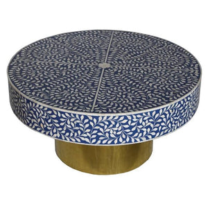 Paula_Bone Inlay Coffee Table_Floral Pattern