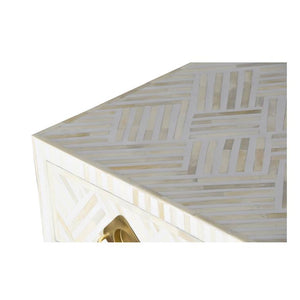 Cassidy_Bone Inlay 2 Drawer Study Table