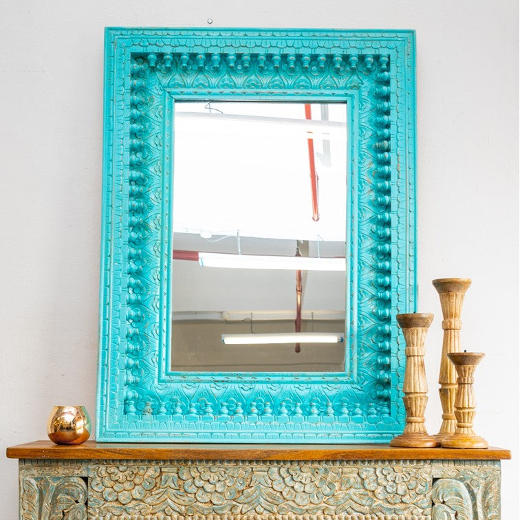 Janet_Indian Spindle Window Mirror Frame_120cm