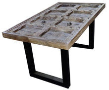 Load image into Gallery viewer, Quincy Solid Wood Dining Table with Glass Top