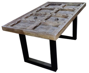 Quincy Solid Wood Dining Table with Glass Top