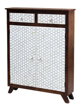 Load image into Gallery viewer, Krysten_Bone Inlay Bar Cabinet