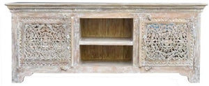 Scott_Wooden Carved TV Console_TV Cabinet