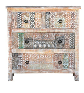 Josh_Solid Indian Wood 3 Drawers Chest of Drawer