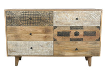 Load image into Gallery viewer, Bitty_Hand Craved Indian Wood 6 Drawers Chest_Dresser