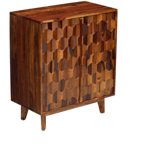 Clayton_Solid Wood Bar Cabinet_Wine Cabinet