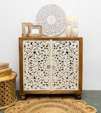 Load image into Gallery viewer, Rorry_Solid Indian Wood Carved 2 Door Cabinet_Dresser