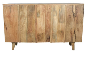 Bitty_Hand Craved Indian Wood 6 Drawers Chest_Dresser