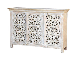 Wren Hand Carved Indian Wood Sideboard_Buffet