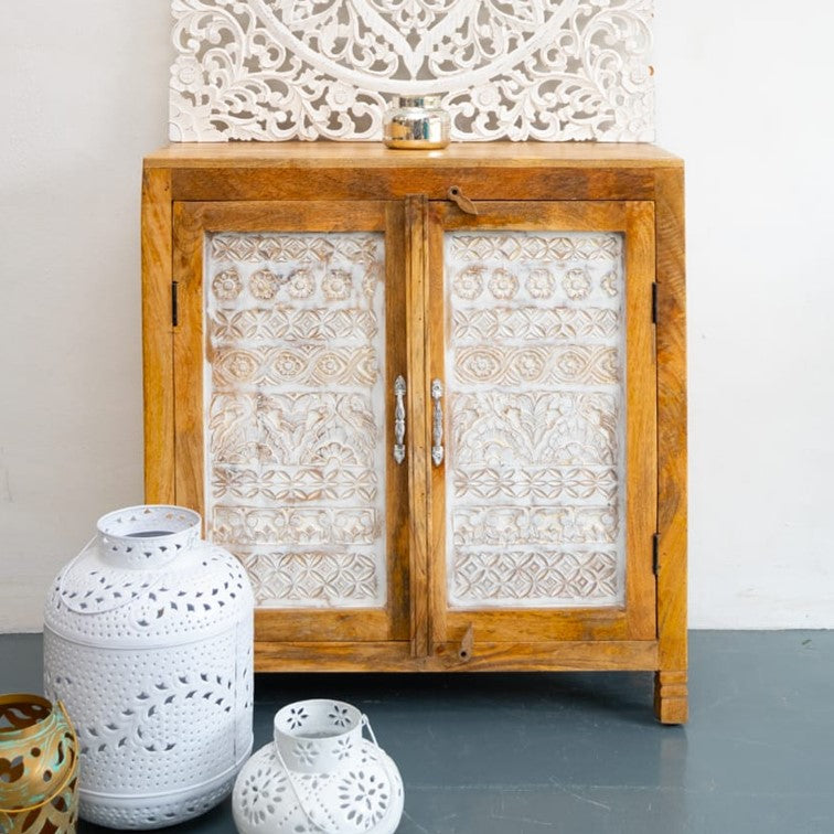 Anna Hand Carved Wooden Cabinet_Chest