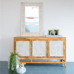 Oliver Hand Craved Wooden Sideboard_Buffet