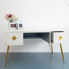 Load image into Gallery viewer, Elli_Bone Inlay 2 Drawer Study Table