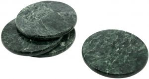 Jaha Green Marble Round Coasters set of 4