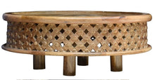 Load image into Gallery viewer, Ferrel Solid Indian Wood Carved Round Coffee Table