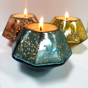 Lima Glass Candle Holder With Wax