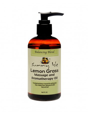 SUNNY ISLE JAMAICAN BLACK CASTOR OIL & LEMONGRASS MASSAGE AND AROMATHERAPY OIL - BALANCING BLEND