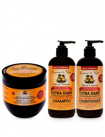 NEW & IMPROVED SUNNY ISLE EXTRA DARK JAMAICAN BLACK CASTOR OIL EXTREME HYDRATION AND DETANGLING SHAMPOO 12OZ