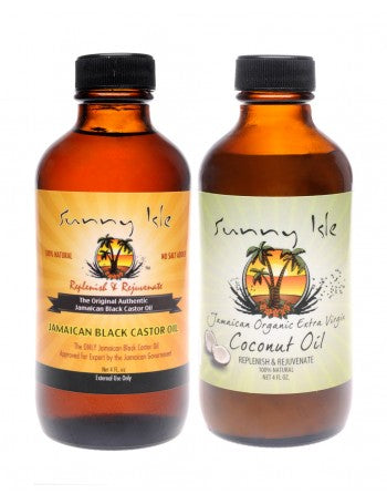 SUNNY ISLE JAMAICAN BLACK CASTOR OIL AND COCONUT OIL BUNDLE